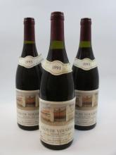 3 bouteilles CLOS VOUGEOT 1993 Grand Cru