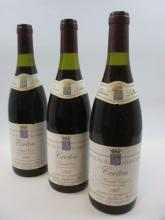 3 bouteilles CORTON 1988 Grand Cru