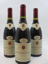 3 bouteilles CORTON 1995 Grand Cru Clos des Cortons