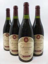 4 bouteilles ECHEZEAUX 1996 Grand Cru