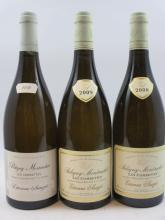 3 bouteilles 1 bt :  PULIGNY MONTRACHET 2008 1er cru Les Combettes. Etienne Sauzet