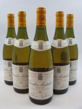5 bouteilles CHEVALIER MONTRACHET 1995 Grand Cru