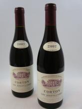 12 bouteilles CORTON BRESSANDES 2007 Grand Cru