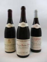 12 bouteilles 3 bts : MOREY SAINT DENIS 1999 Domaine Forey Père et Fils (étiquettes fanées)