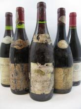 12 bouteilles 5 bts :  CHASSAGNE MONTRACHET 1989 Domaine Labouret Roy (étiquette abimées, très déchirées)