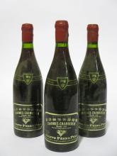 3 bouteilles CHARMES CHAMBERTIN 1996 Grand Cru