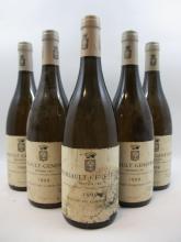 5 bouteilles MEURSAULT 1999 1er cru Genevrières
