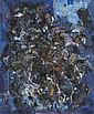Alexandre ISTRATI (1915-1991) COMPOSITION BLEUE Huile sur toile