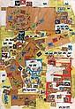 Natalia DUMITRESCO (1915-1997) COMPOSITION, II 1968 Huile sur carton d'isorel