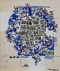 Natalia DUMITRESCO (1915-1997) COMPOSITION Encre de chine et gouache aquarellée sur papier