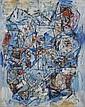 Alexandre ISTRATI (1915-1991) BLEU PARADIS, 1980 Huile sur toile