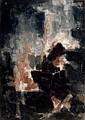 Paul KALLOS (1928 - 2001) COMPOSITION, 1958 Huile sur toile