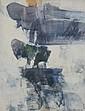 Paul KALLOS (1928 - 2001) SOLEIL LEVANT, 1970 Huile sur toile