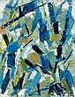 Oscar GAUTHIER (né en 1921) CD-ZTU, 1952 Huile sur toile