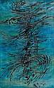Edgar PILLET (1912-1996) OBLIQUE, 1959 Huile sur toile