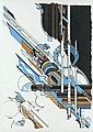 Iaroslav Sossountzov SERPAN (1922-1976) EKN-2, MARS 1973 Dessin à la gouache, crayon et feutre noir sur papier, Iaroslav Sossountzov Serpan, Click for value