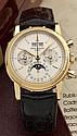 PATEK PHILIPPE QUANTIEME PERPETUEL Réf: 3970/E N° 875545 vers 1990 Très rare et superbe chronographe à quantième perpétuel en or...
