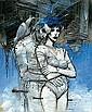 Enki BILAL 4 EB Visioni di fine millenioAcrylique, pastel et mine de plomb pour la couverture du catalogue