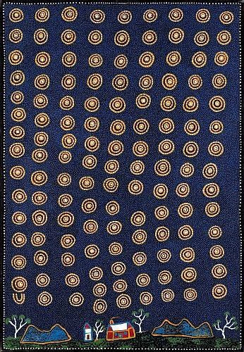 Kngwarreye KUDDITJI (ALYAWARRA) (né en 1928) LE REVE DE L'EMEU / EMU DREAMING, 1999 Acrylique sur toile (Belgian linen)