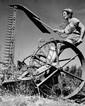 Zoltan Kluger  Femme faisant le travail des hommes partis à l'armée, Kibbutz Ein Hahoresh, 1940