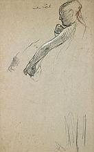 Edgar DEGAS 1834 - 1917 ETUDE DE DANSEUSE Dessin au trois crayons sur papier