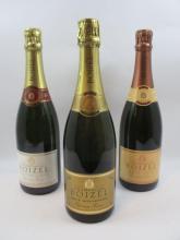 3 bouteilles 1 bt : CHAMPAGNE BOIZEL 1996 Brut