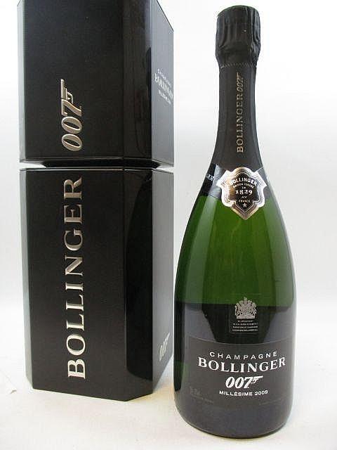 1 bouteille CHAMPAGNE BOLLINGER 2009 Cuvée James Bond Etui d''origine