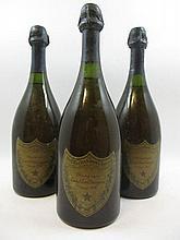 3 bouteilles CHAMPAGNE DOM PERIGNON 1964 (étiquettes léger abimée
