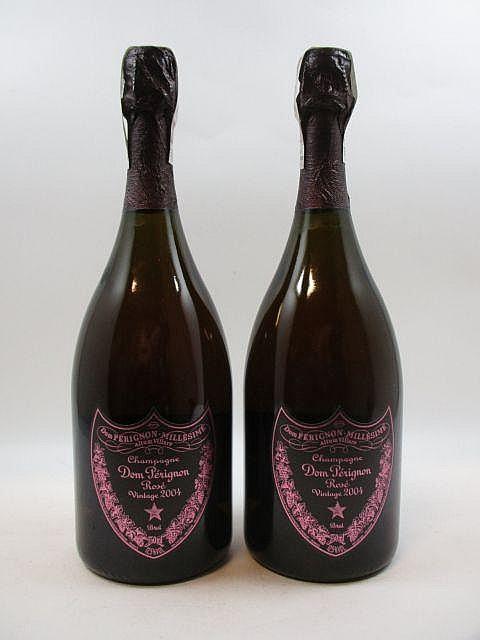 2 bouteilles CHAMPAGNE DOM PERIGNON 2004 Rosé