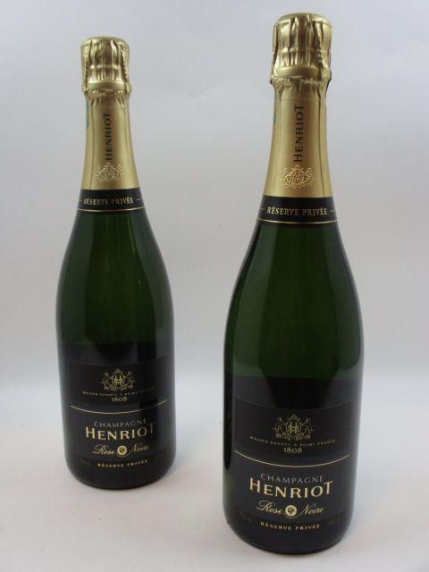 6 bouteilles CHAMPAGNE HENRIOT Rose Noiree- réserve privée  (Cave 2)