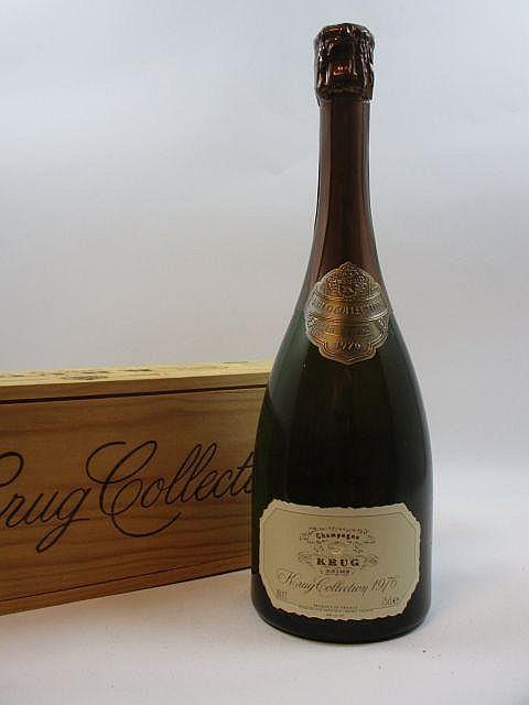 1 bouteille CHAMPAGNE KRUG 1976 Cuvée Collection (bouteille numérotée) Caisse bois d''origine