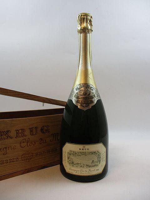 1 bouteille CHAMPAGNE KRUG 1980 Clos du Mesnil