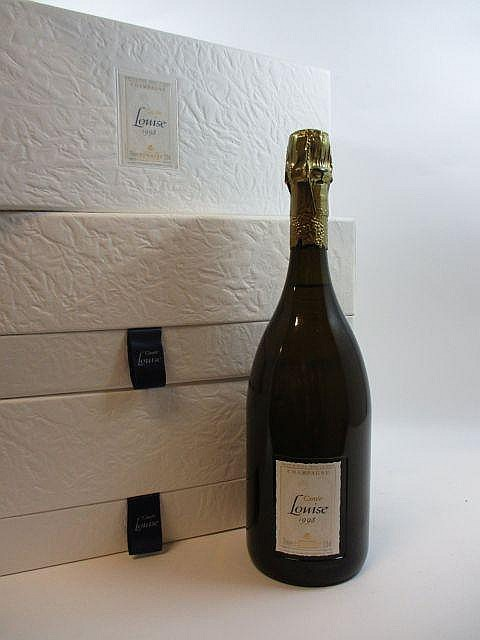 3 bouteilles CHAMPAGNE POMMERY 1998 Cuvée Louise