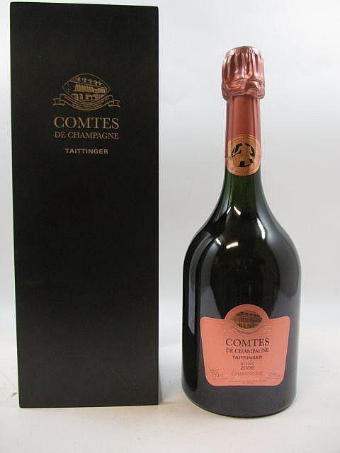 1 bouteille CHAMPAGNE TAITTINGER COMTES DE CHAMPAGNE ROSE 2006 Rosé Etui d''origine