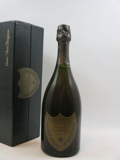 1 bouteille CHAMPAGNE DOM PERIGNON 1978 Etui d''origine (abimé)