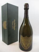 1 bouteille CHAMPAGNE DOM PERIGNON 1992 (étiquette et coffret abimés)