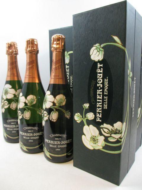 6 bouteilles CHAMPAGNE PERRIER JOUET 1994 Cuvée Belle Epoque Etuis d''origine (cave 16)