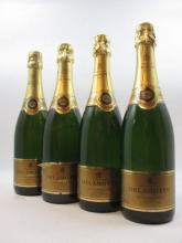 4 bouteilles CHAMPAGNE DELAMOTTE 1999 Blanc de Blancs (étiquettes abimées) (Cave 1)