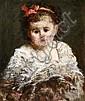 Adolphe MONTICELLI (Marseille, 1824 -Marseille,1886) LA PETITE FILLE AU RUBAN ROUGE Huile sur panneau, Adolphe-Joseph-Thomas Monticelli, Click for value