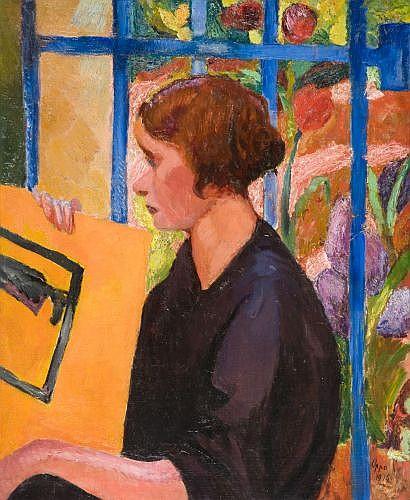 Cipriano EFISIO OPPO (1891 - 1962) MEZZOGIORNO (LA GRATA BLU), 1916 Huile sur toile