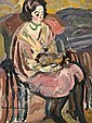 ¤ Maurice LOUTREUIL (Montmirail, 1885- Paris, 1925) FEMME ASSISE TENANT UN CHAT, CIRCA 1922 -1923 Huile sur toile, Maurice Albert Loutreuil, Click for value