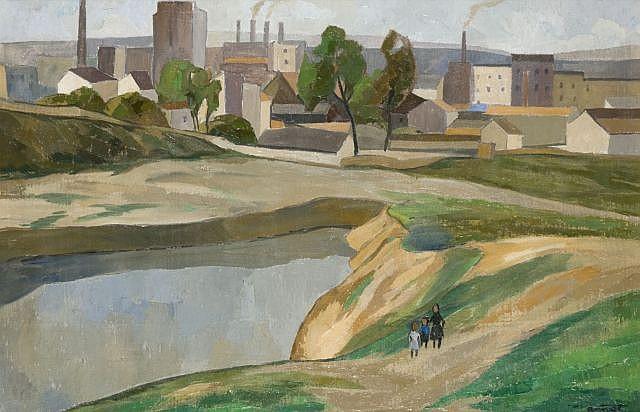 Louis Robert ANTRAL (1895-1940) PAYSAGE DE BANLIEUE Huile sur toile
