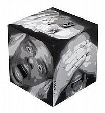 ENDER (Né en 1973) JE CRIE DONC JE SUIS, 2013 Technique mixte sur structure en bois