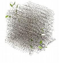 Nicole FELLOUS  SANS TITRE, 2014 Structure en métal dans une boîte en polystyrène et dessin