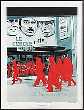Gérard FROMANGER (Né en 1939) LE CERCLE ROUGE, 1971-2013 Digigraphie