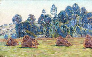 Armand GUILLAUMIN (Paris, 1841- Orly, 1927) BREUILLET, 1890 Huile sur toile