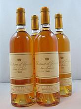 4 bouteilles CHÂTEAU D'YQUEM 2000 1er Cru Supérieur Sauternes