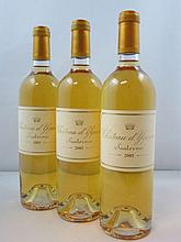 6 bouteilles CHÂTEAU D'YQUEM 2005 1er Cru Supérieur Sauternes