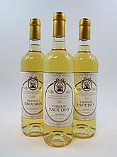 12 bouteilles CHÂTEAU ESCUDEY 2009 Côtes de Bordeaux (blanc)