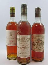 3 bouteilles 1 bt : CHÂTEAU DOISY DAENE 1961 2è Cru Barsac (légèrement bas)